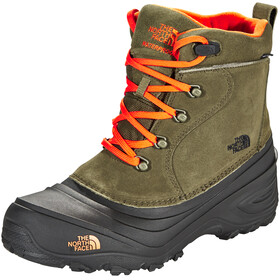 The North Face Chilkat Lace II Bottes Enfant, tarmac green/scarlet ibis